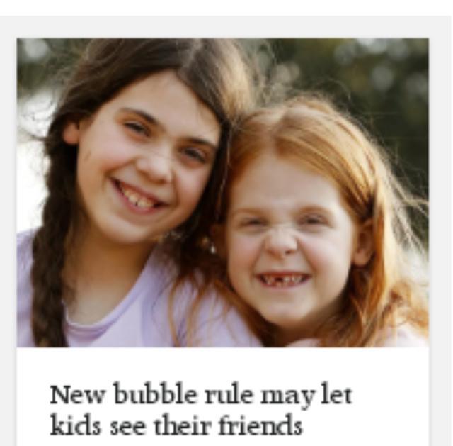 澳大利亚维州将推行朋友泡泡圈 18岁以下的孩子很快能见小伙伴了