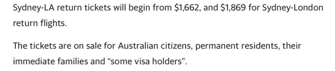 恢复国际航班的时间提前!11月14日起,澳人从悉尼可以去这些地方