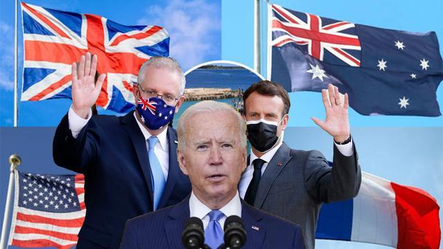 """核武装澳大利亚!拜登又一大昏招,法国和加拿大或要""""倒向""""中国"""