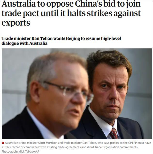 """中国申请加入CPTPP,澳大利亚贸易部长""""提条件"""""""