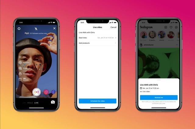 """Instagram面向Live创作者推出直播调度和""""演练模式""""等新功能"""