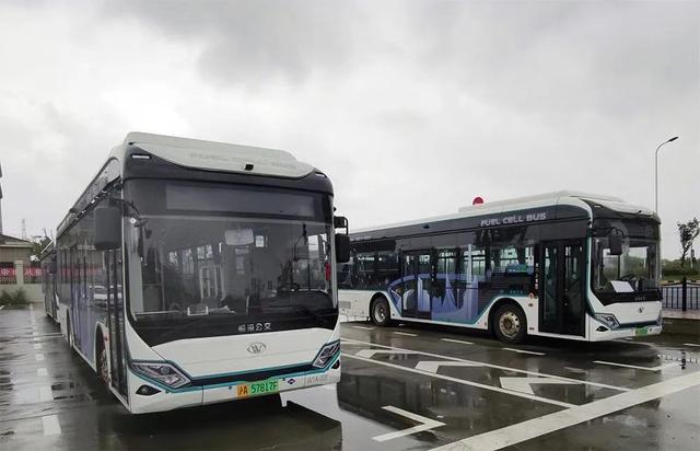 可用数字人民币刷脸乘车,上海氢能源公交今起在临港运营