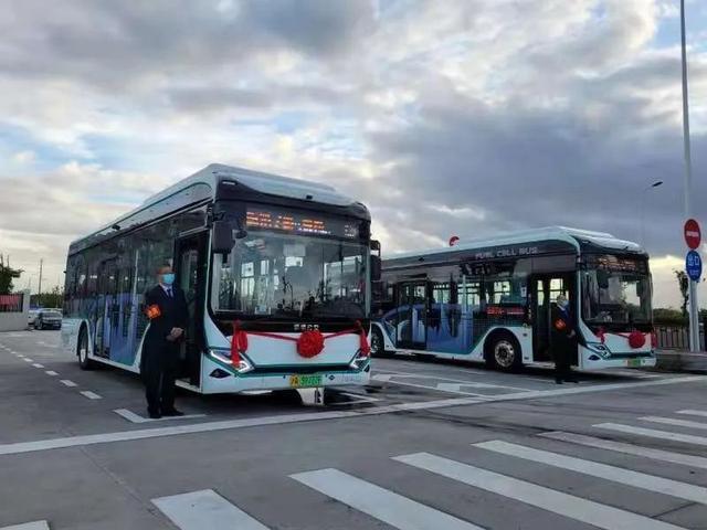 用数字人民币可刷脸乘车,上海氢能源公交今起运营