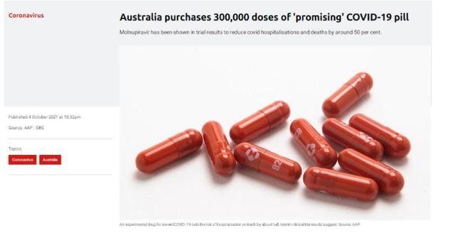 迎来80%接种里程碑 澳洲政府订购30万剂全新药物