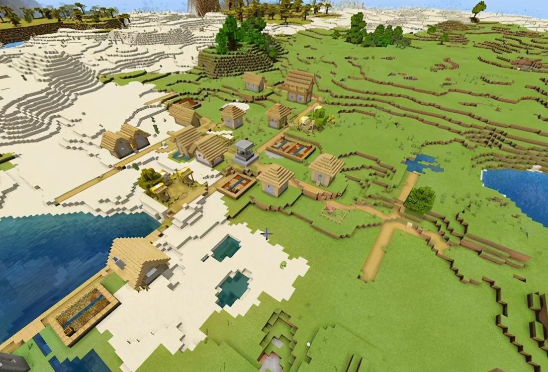 我的世界:寻找村庄的5种方法,最快用时不到3秒?学霸败给学渣