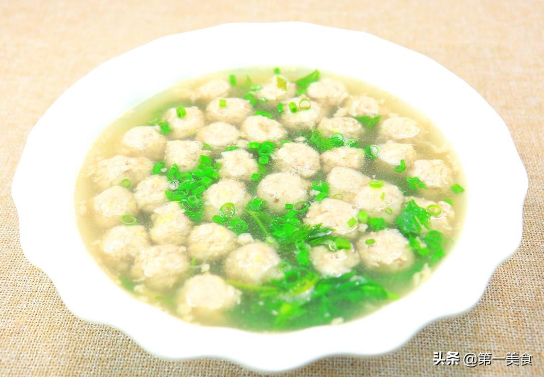 【芋头肉丸】做法步骤图 汤汁鲜美 比生氽丸子还好吃