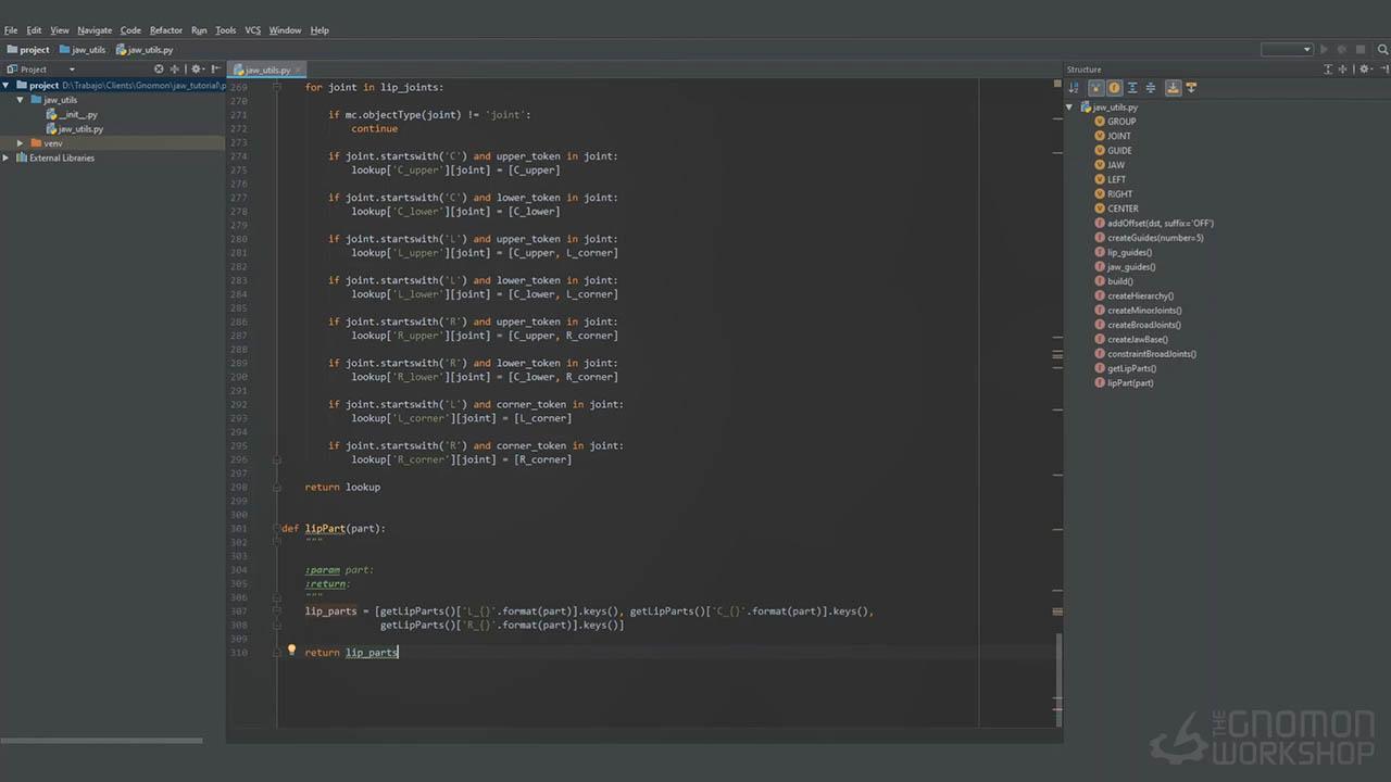 Rigging The Jaw with Python in Maya - Maya Python绑定技术教程