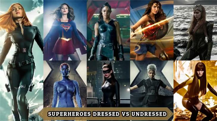 漫威女英雄电影日常角色露点合集海报