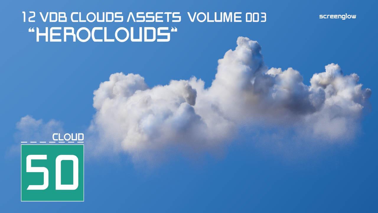 VDB体积云3D模型预设 OpenVDB格式 VDB Clouds MEGA BUNDLE