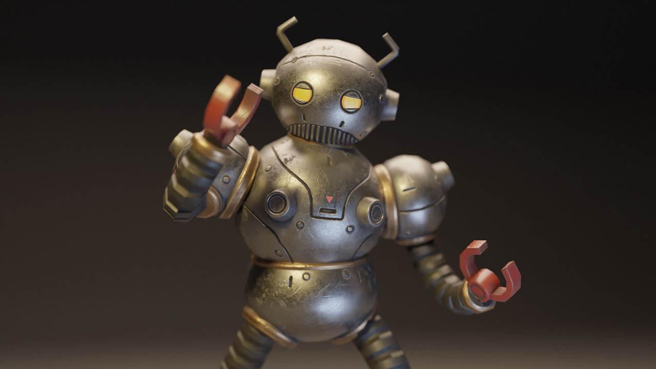 Blender机器人建模渲染教程 从概念到渲染的3D游戏教程