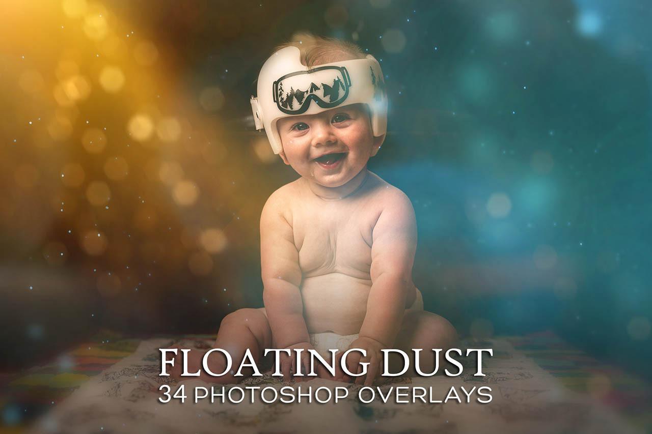 彩色浮尘光斑 Photoshop叠加动作特效