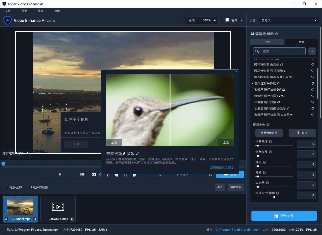 VIP资源-智能视频放大清晰化软件Topaz Video Enhance AI 2.4.0 win X64汉化版(2)