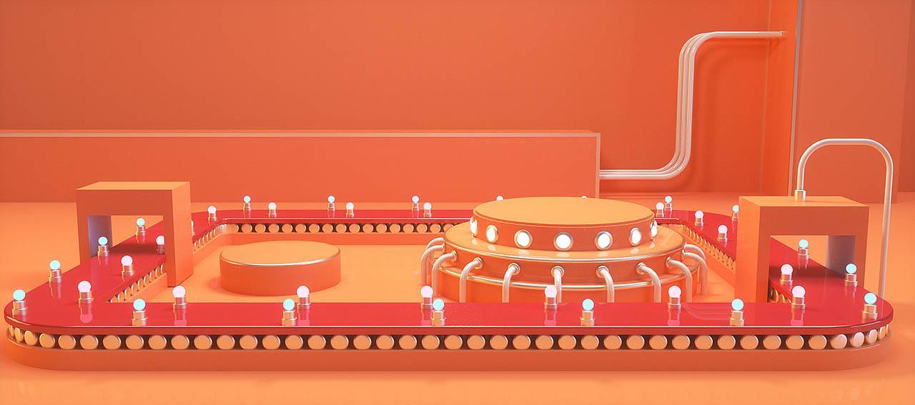 C4D电商场景模型 45套电商海报Cinema4d场景设计项目源文件