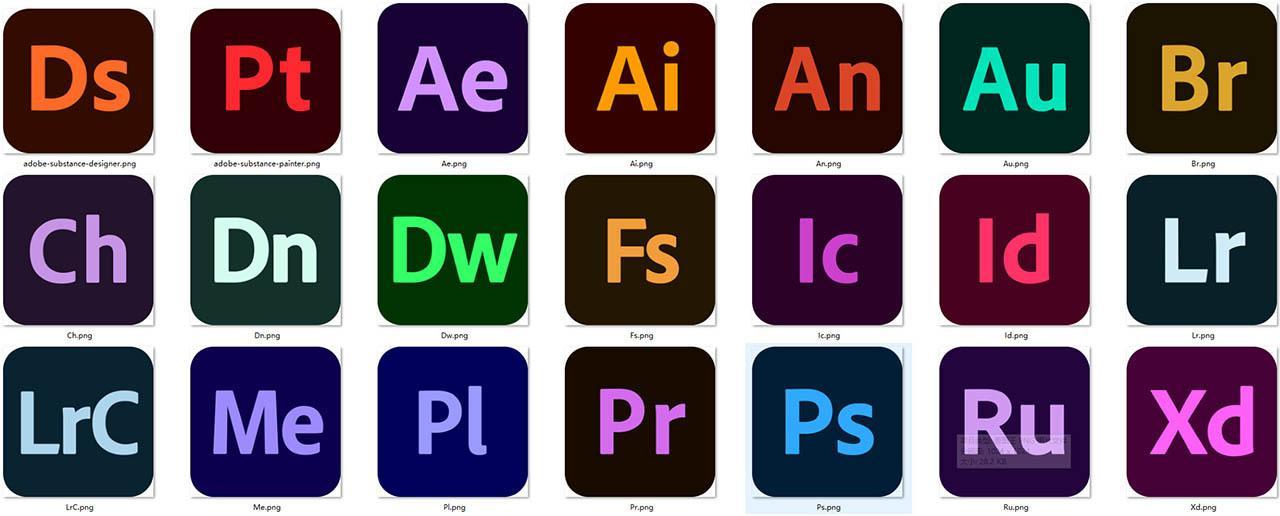 Adobe系列图标 高分辨率Adobe图标png
