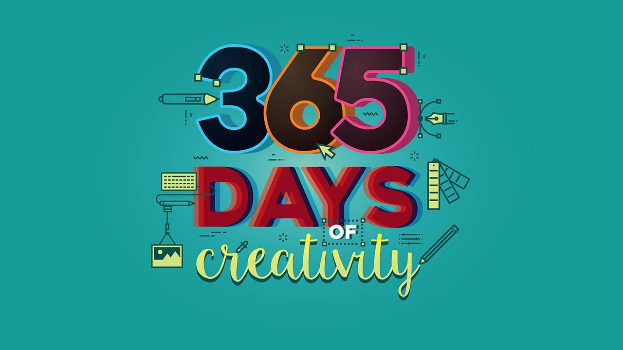 365 Days Of Creativity - Month 1 - Photoshop Illustrator InDesign Procreate