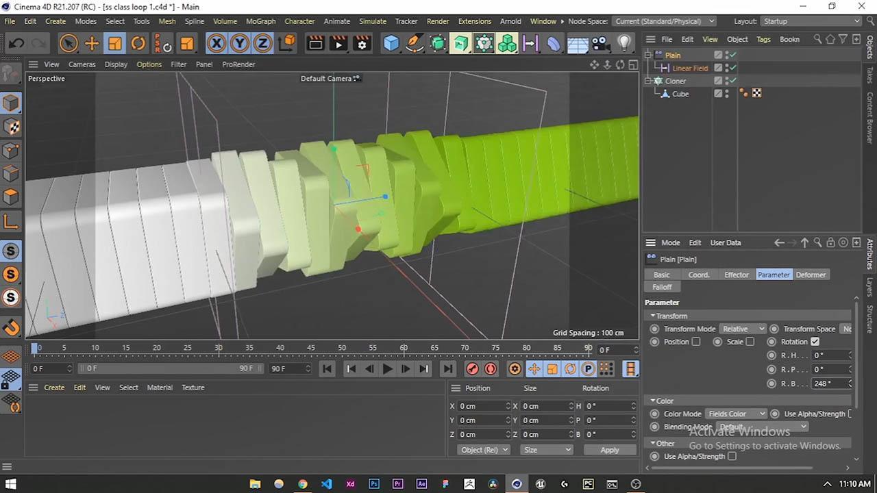 Cinema 4D Easy Looping 3D Animation for your Portfolio - C4D循环三维场景动画教程