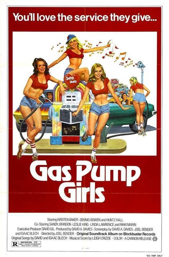 加油站的女孩海报