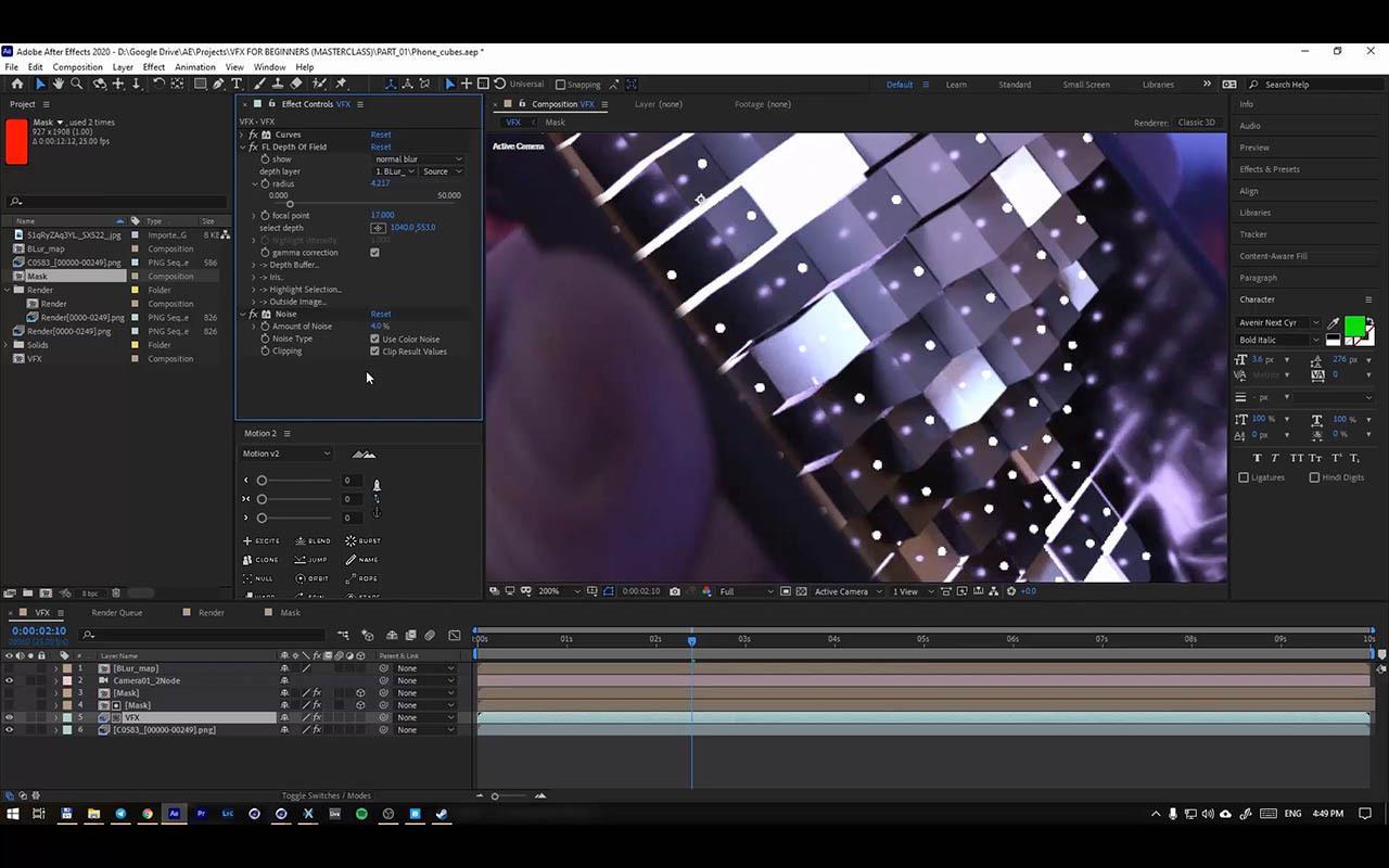 VFX for beginners Eduardov - C4D视频跟踪三维特效合成教程