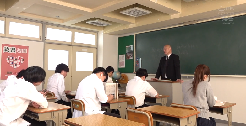 SSIS-070乙白沙也加(乙白さやか)被光头老师三进三出