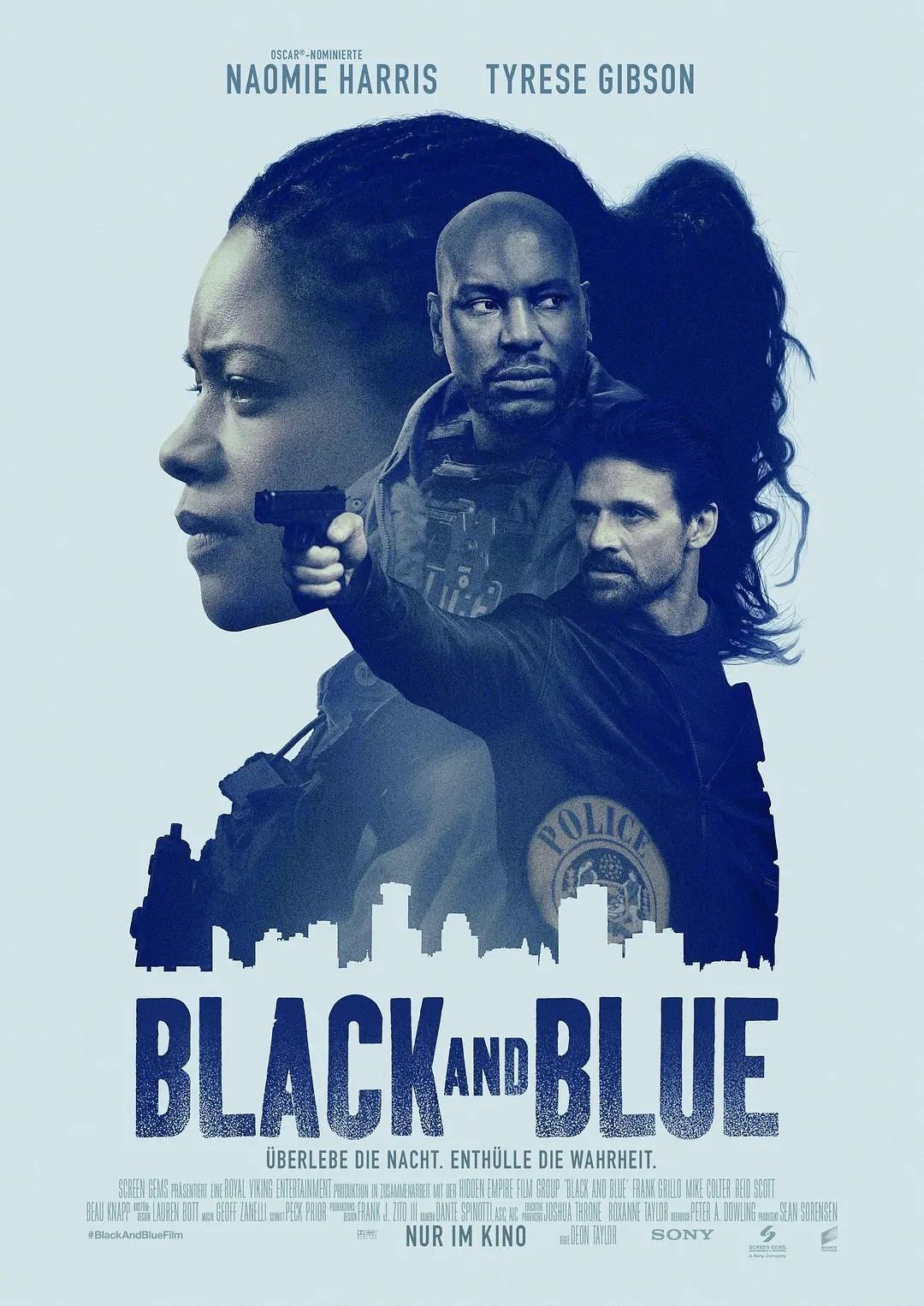 蓝与黑海报