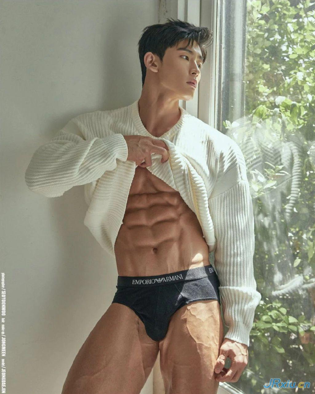 韩国健美运动员肌肉帅哥健身私教
