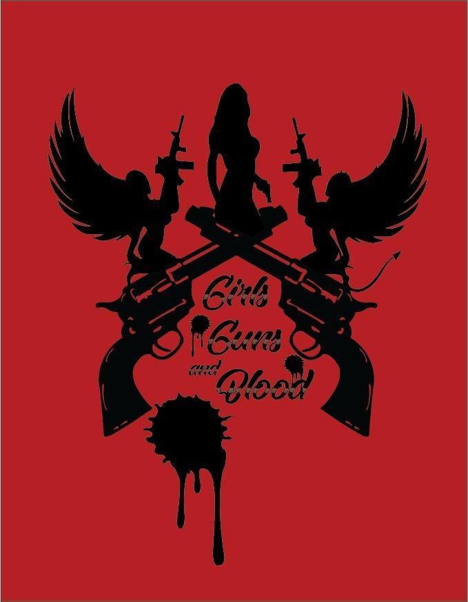 女孩.枪和血海报