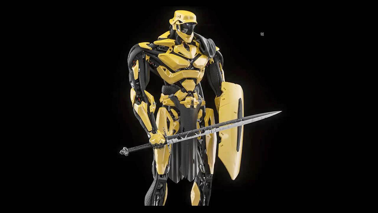 Robotic 3D Design for Entertainment - ZBrush Moi3D机械角色模型制作教程