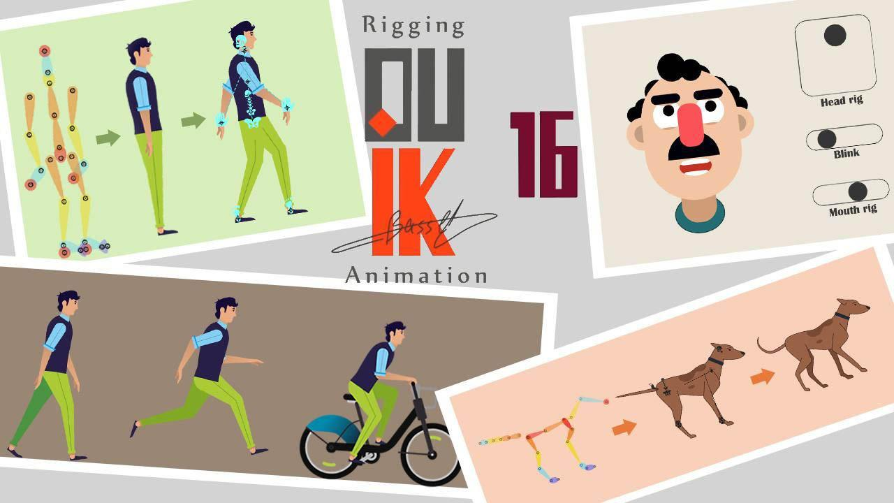Rigging a Character with Duik Bassel in After Effects – AE Duik人物角色绑定教程