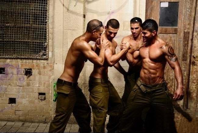 以色列国防军小伙肌肉猛照军人肌肉