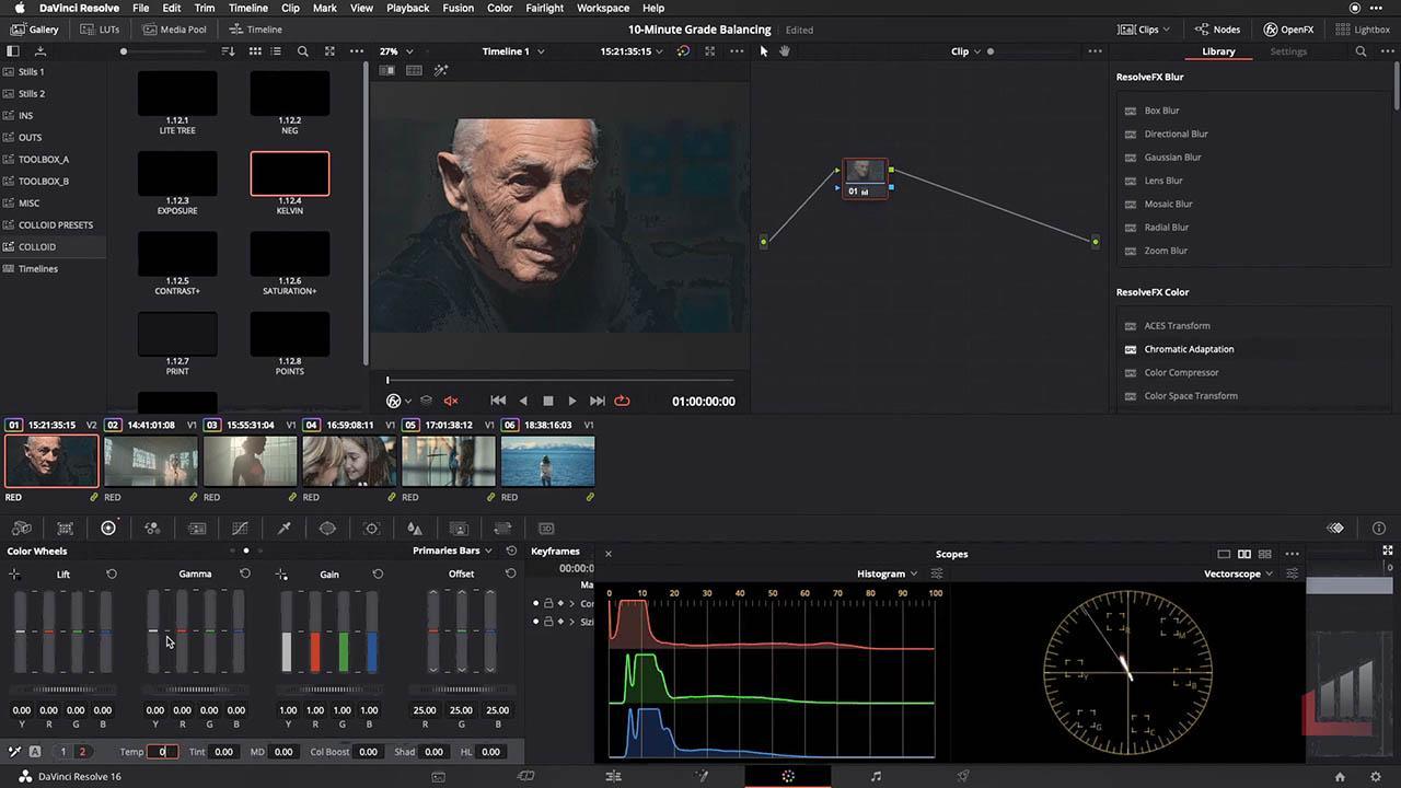 Color Grading Tutorial Library 达芬奇调色视频教程