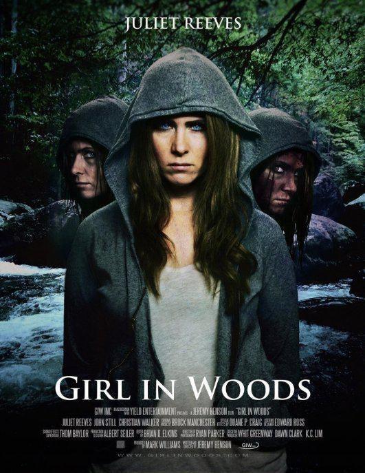 林中女孩海报