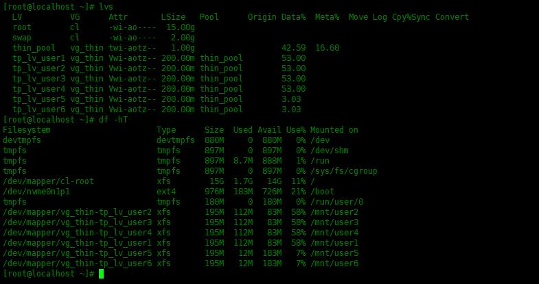 Centos8中创建LVM精简逻辑卷Centos8中创建LVM精简逻辑卷