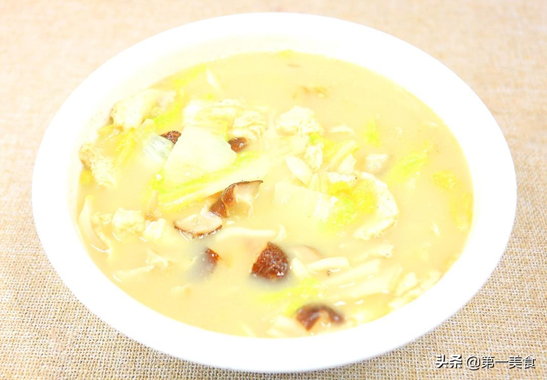 【香菇白菜汤】做法步骤图 记住这1个关键 汤汁奶白浓郁